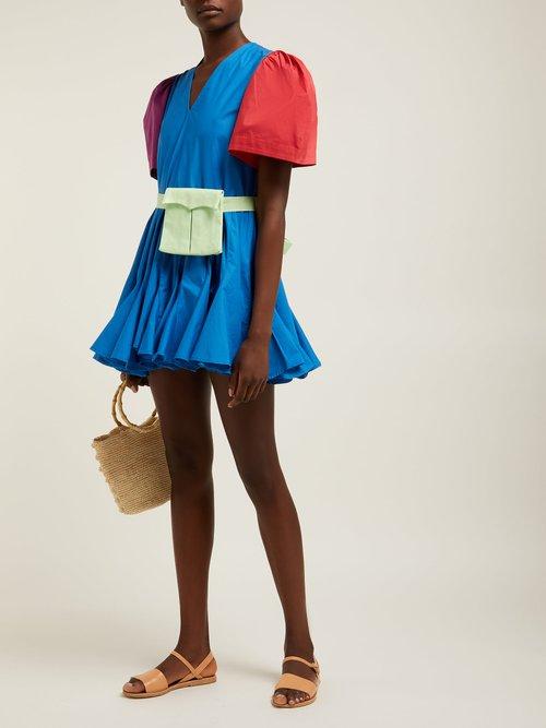 Vivienne V Neck Puff Sleeve Cotton Blend Dress by Rhode Resort