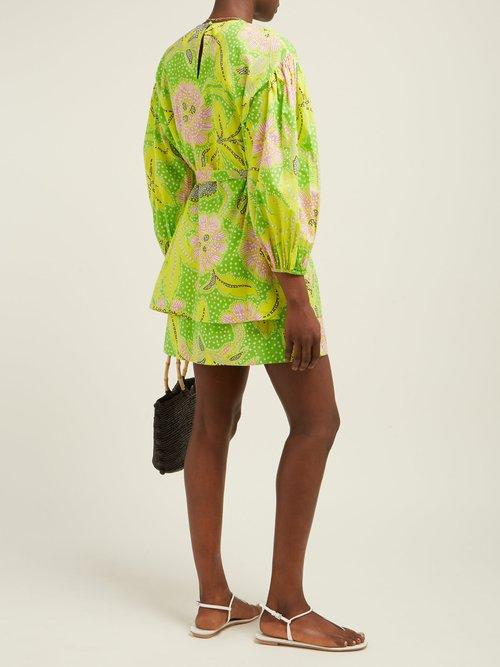 Marli Botanical Print Cotton Dress by Rhode Resort