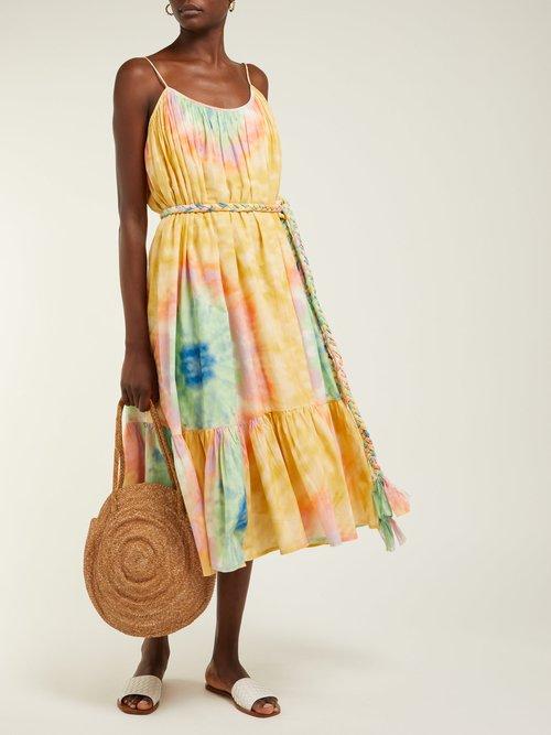 Lea Tie Dye Print Cotton Midi Dress by Rhode Resort