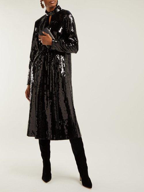 Avril Sequinned Midi Dress by Tibi