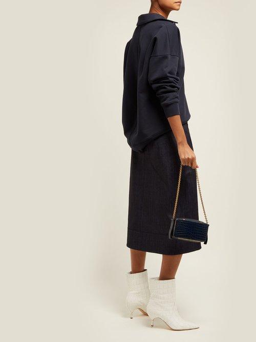 Cotton Blend Polo Sweatshirt by Tibi