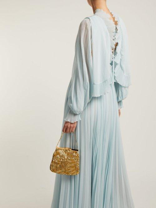Photo of Pleated Chiffon Maxi Dress by Self-portrait - shop Self-portrait dresses online sales