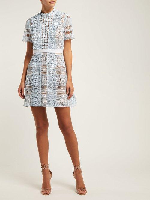 Spiral Lace Mini Dress by Self-portrait