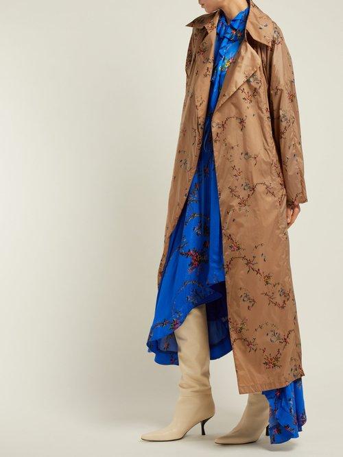 Arlissa Floral Garland Print Lightweight Coat by Preen By Thornton Bregazzi