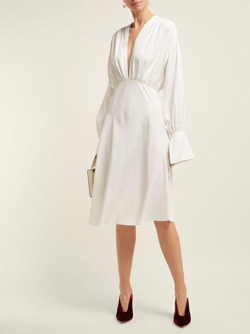 Connie Satin Crepe Dress by Khaite