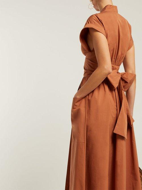 Clarissa Tie Back Cotton Wrap Dress by Three Graces London