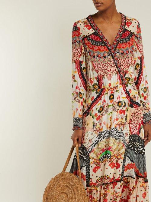 Vintage Vixen Print Silk Maxi Dress by Camilla