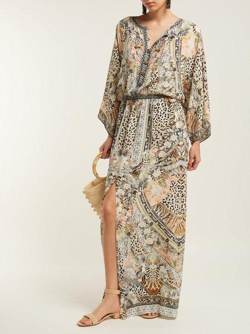 Leopard Print Silk Sun Dress by Camilla
