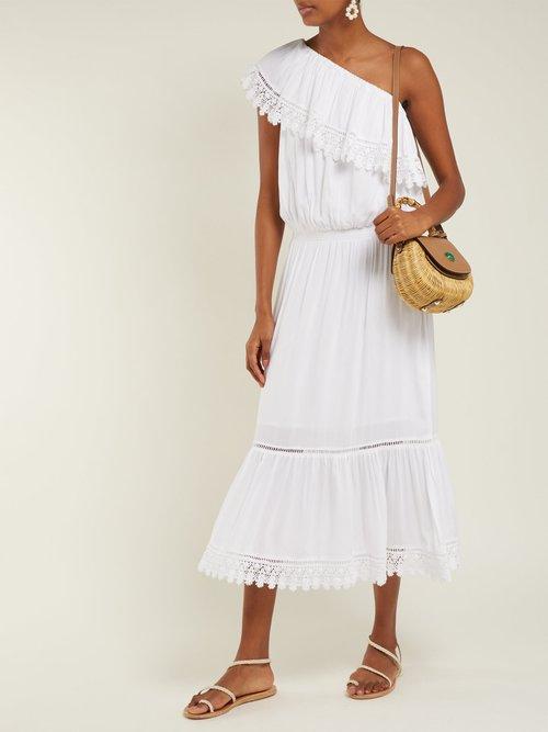 Photo of Jo Lace Trim Jersey Dress by Melissa Odabash - shop Melissa Odabash dresses online sales