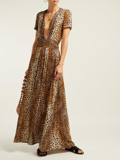 Lou Cheetah Print Maxi Dress by Melissa Odabash