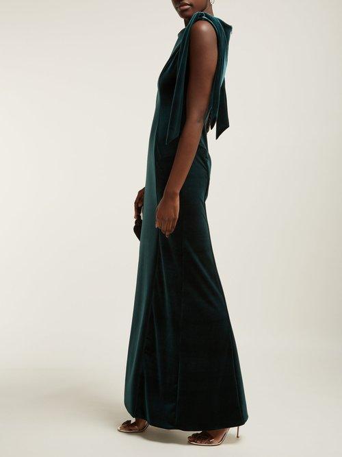 Princess Cut Velvet Dress by Emilio De La Morena