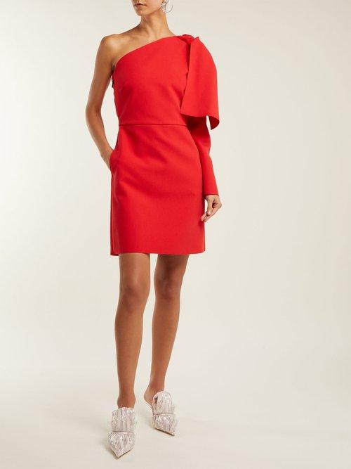 Photo of Bow Detail Crepe Mini Dress by MSGM - shop MSGM dresses online sales