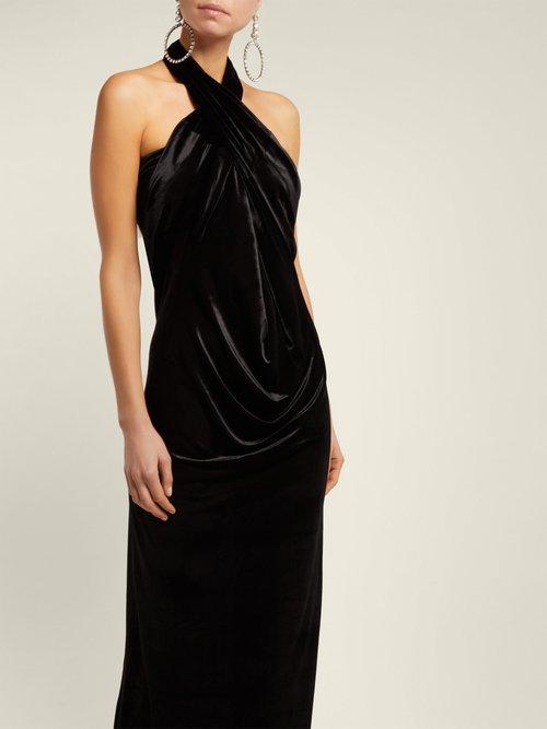 All In One Velvet Dress by Norma Kamali