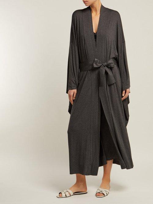 Wrap Jersey Robe by Norma Kamali