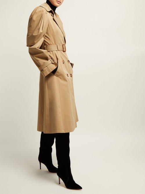 Shell Sleeve Cotton Gabardine Trench Coat by Alexander McQueen