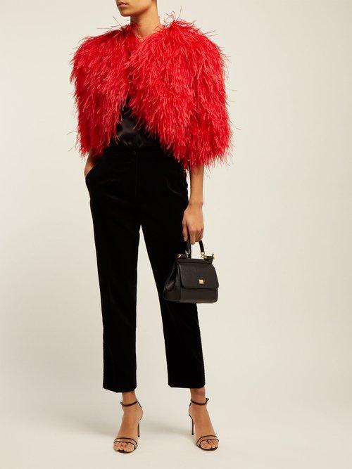 Cropped Feather Bolero Jacket by Dolce & Gabbana