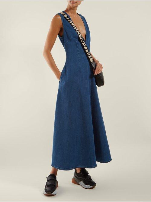 Bias Cut Denim Dress by Stella Mccartney