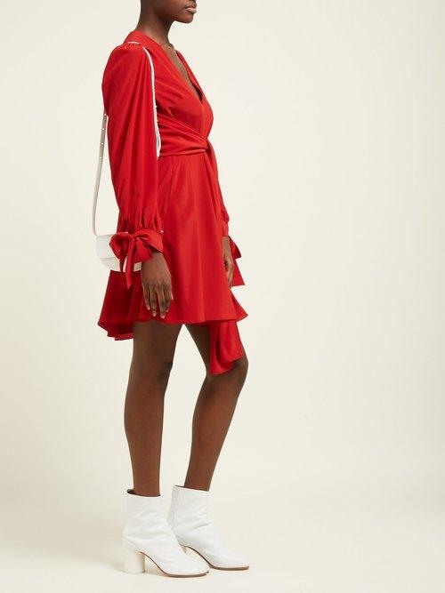 Wrap Silk Crepe De Chine Mini Dress by Stella Mccartney