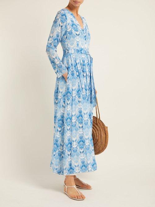 Kalua Print Silk Crepe Dress by Athena Procopiou