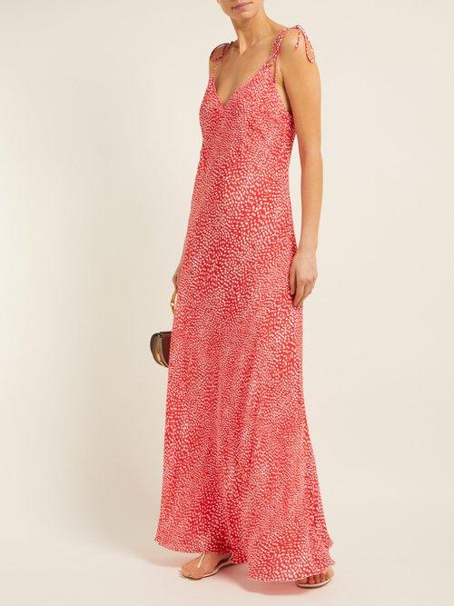 Mandrem Love Print Silk Crepe Dress by Athena Procopiou