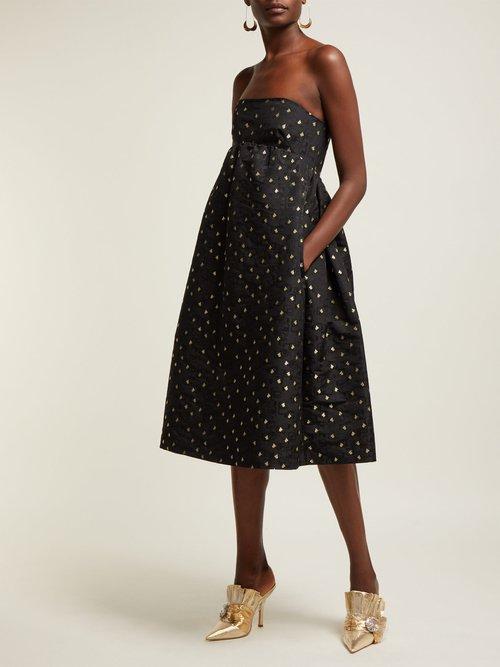 Rose Jacquard Cotton And Silk Blend Midi Dress by Rochas