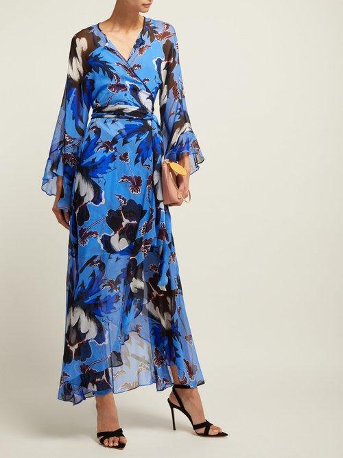 Lizella Floral Print Silk Dress by Diane Von Furstenberg