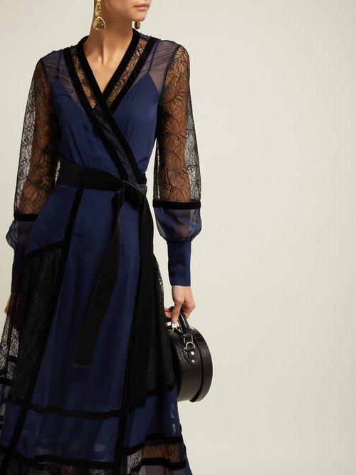 Forrest Organza And Lace Midi Dress by Diane Von Furstenberg