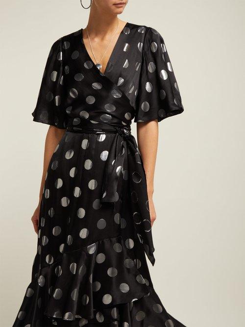 Sareth Polka Dot Silk Blend Wrap Dress by Diane Von Furstenberg
