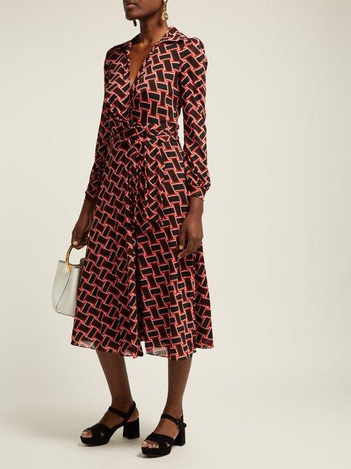 Phoenix Wrap Front Dress by Diane Von Furstenberg