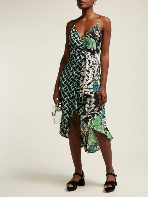 Katsia Floral Print Crepe Wrap Dress by Diane Von Furstenberg