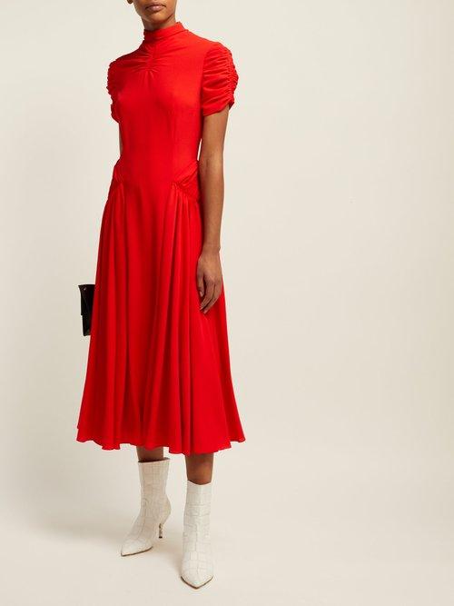 Ariane High Neck Crepe Midi Dress by Emilia Wickstead