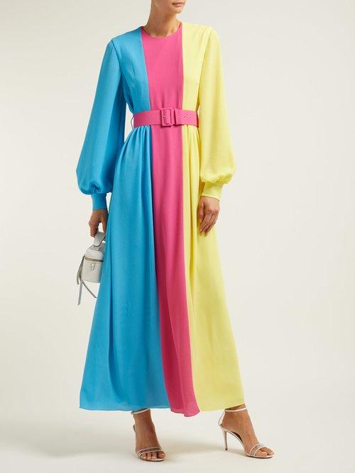 Bernadette Colour Block Crepe Midi Dress by Emilia Wickstead