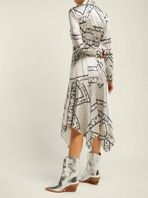 5567ff6120 Weston Horse Print Cotton Dress by Ganni | Coshio Online Shop