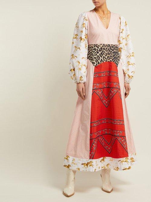 Sweeney Printed Cotton Maxi Dress by Ganni