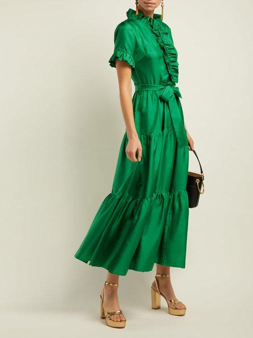 Long & Sassy Silk Dress by La DoubleJ