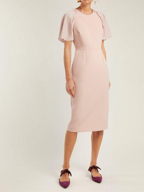 Cierra Contrast Panel Crepe Dress by Roksanda