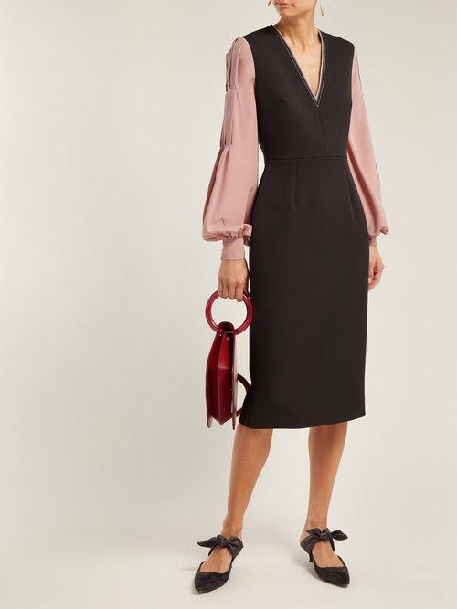 Eryn Crepe Midi Dress by Roksanda
