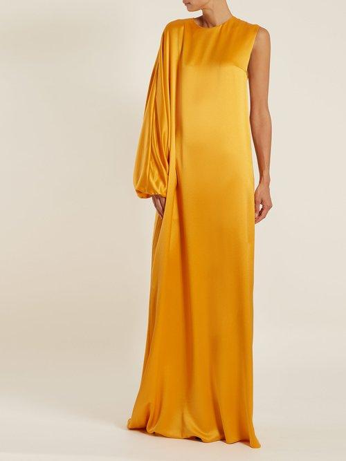 Delmira One Shoulder Satin Gown by Roksanda