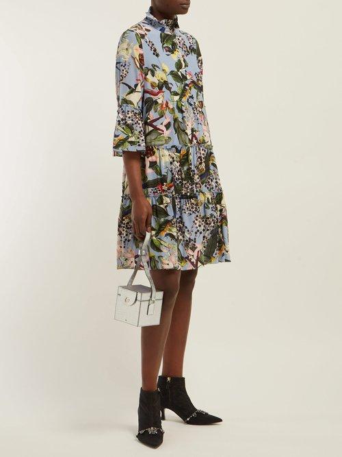 Wyn Fassett Dream Print Silk Mini Dress by Erdem