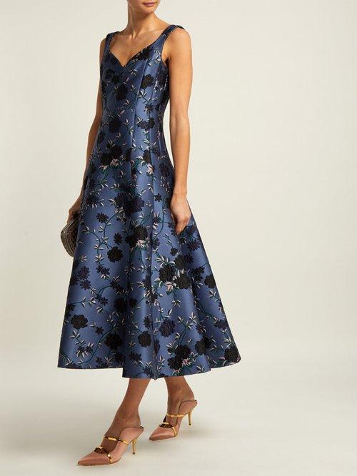 Verna Rose Jacquard Gown by Erdem