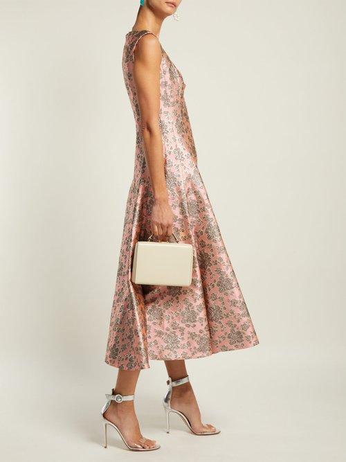 Verna Floral Jacquard Gown by Erdem
