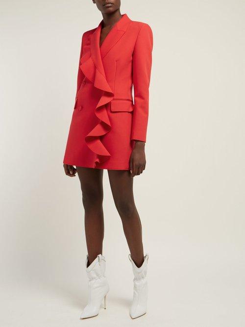 Ruffled Cady Blazer Mini Dress by Msgm