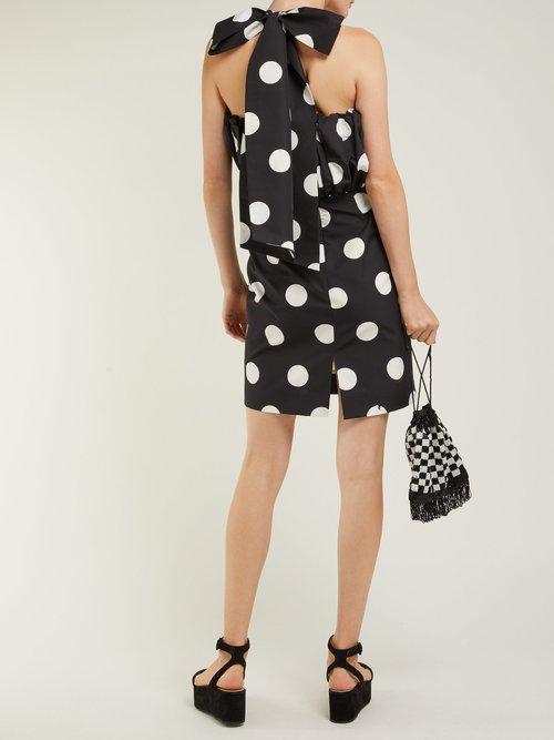 Polka Dot Cotton Faille Mini Dress by Msgm