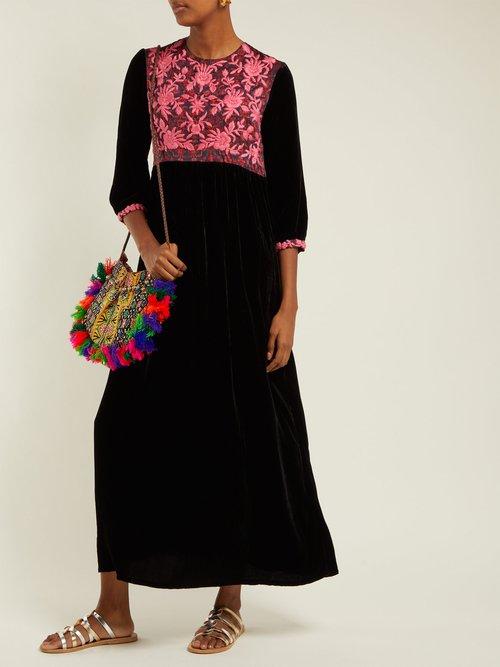 Touba Embroidered Velvet Dress by Muzungu Sisters