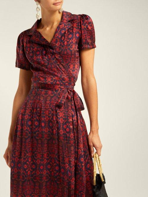 Soraya Silk Wrap Dress by Muzungu Sisters