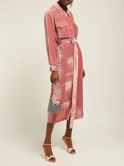 Imogen Corduroy Effect Silk Blend Shirtdress by Sies Marjan