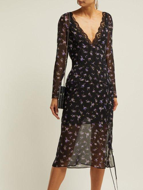 Rosmarino Silk Georgette Midi Dress by Altuzarra