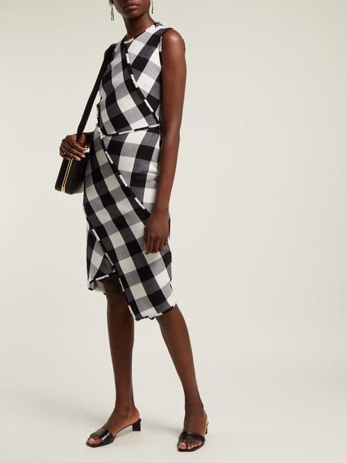 Gina Vichy Check Wool Blend Dress by Altuzarra