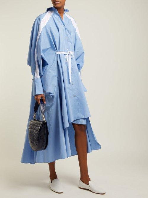 Streep Pinstripe Cotton Poplin Shirtdress by Palmer/harding