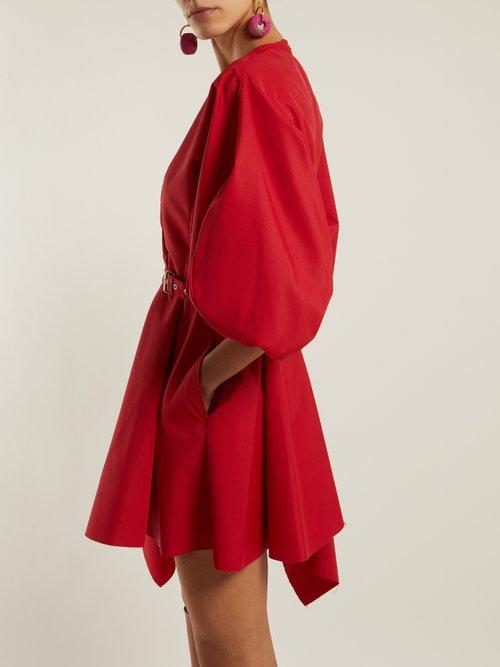 Asymmetric Belted Taffeta Dress by Marques'Almeida